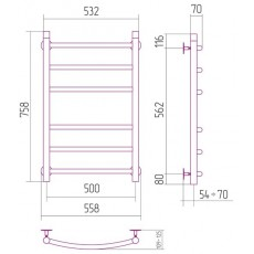 Полотенцесушитель водяной Сунержа Галант 800x500 мм, арт. 00-0100-8050