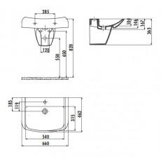 Раковина Creavit Bull BL065(BL065.00000), подвесная