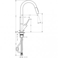 Смеситель AXOR Starck арт. 10821000 для кухни