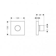 Смеситель AXOR Starck арт. 10932000 для душа, внешняя часть