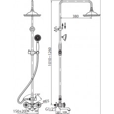 Душевая колонна BelBagno Slip SLI-VSC-CRM