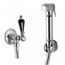 Гигиенический душ Cezares DIAMOND-KS-01-Sw-N, хром, ручка Swarovski Nero