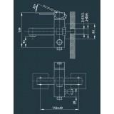 Cмеситель Edelform Grano GR1810 для ванны/душа VSTV