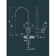 Cмеситель Edelform Grano GR1802 для кухни