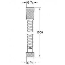 Душевой шланг Grohe Relexa Plus 28143000, 150 см, хром