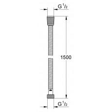 Душевой шланг Grohe Relexa 28151Z00, 1,5 м, латунь