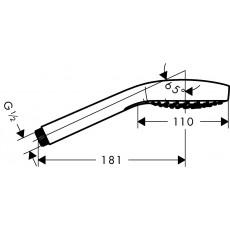 Ручной душ Hansgrohe Croma Select E Vario 26812400