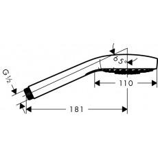 Ручной душ Hansgrohe Croma Select E Multi EcoSmart 26811400