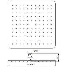 Верхний душ Ideal Standard IdeaRain Cube L1  B0025AA, 30*30 см