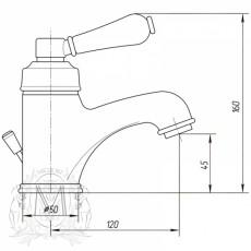 Cмеситель Migliore Ermitage ML.ERM-7013.BIBR для раковины, бронза