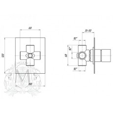 Девиатор Migliore Kvant ML.KVT-2727 3-х позиционный