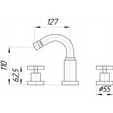 Cмеситель Migliore Naxos ML.NAX-7625 для биде на 3 отверстия