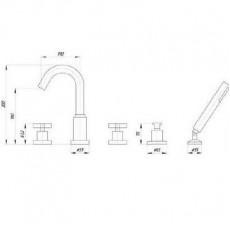 Cмеситель Migliore Naxos ML.NAX-7680 для ванны/душа