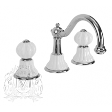 Cмеситель Migliore Olivia ML.OLV-5812BI.DO для раковины, золото, ручки белая керамика