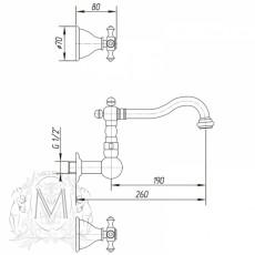 Cмеситель Migliore Prestige ML.PRS-769DO для раковины - золото