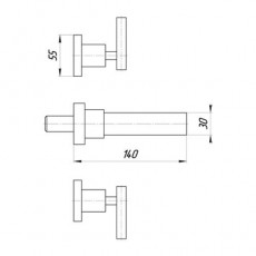 Cмеситель Migliore Syntesi ML.SNS-7965 для раковины, встраиваемый