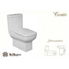 Унитаз BelBagno Cento (Сенто) с бачком BB8332 и крышкой-сиденьем BB2332SC, 685x355x790 см