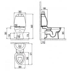 Унитаз-компакт Creavit Cocuk CK311D(CK310.001F0)/CK400D(CK400.000F0)/IT1025, детский, с крышкой-сиденьем, с декором