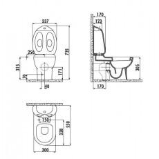Унитаз-компакт Creavit Ducky DC360(DC360.00000)/DC400(DC400.00000)/IT5030, детский, с функцией биде