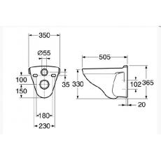 Готовое решение: инсталляция AlcaPlast Sadromodul 3 в 1 A101/1200-3:1 SET + подвесной Gustavsberg Nordic 2330 GB112330001000 с крышкой-сиденьем быстросъемным Sund C4502