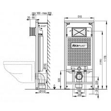 Готовое решение: инсталляция AlcaPlast Sadromodul 3 в 1 A101/1200-4:1 SET + подвесной Gustavsberg Nordic 3 46041001 + Сиденье Nordic 3 8780S101