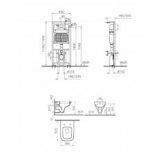 Комплект 4 в 1: унитаз+система смыва Vitra S20 9004B003-7202