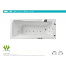 Ванна акриловая Акватика Авентура 150*70*67 см