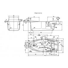 Ванна акриловая Акватика Аврора 175*80*74 см
