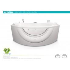 Ванна акриловая Акватика Акварама 200*75/130*62 см