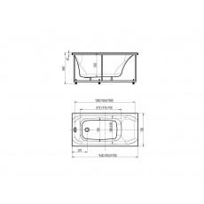 Ванна акриловая Aquatek Альфа 150*70 см