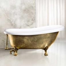 Ванна акриловая BelBagno BB04-ORO/BIA, золото/белый