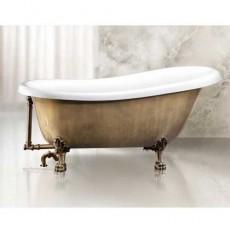 Ванна акриловая BelBagno BB04-BRN/BIA, бронза/белый