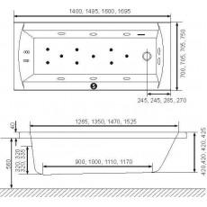 Ванна акриловая Excellent Aquaria WAEX.AQU15WH, 150*70 см