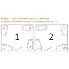 Ванна акриловая Радомир Альбена 168*120 см