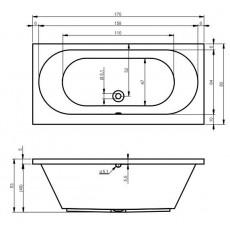 Ванна акриловая Riho Carolina 170 арт. BB5300500000000, 170*80 см