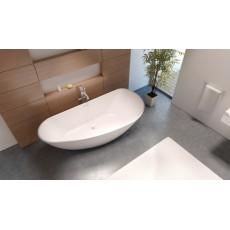 Асимметричная ванна из искусственного камня Riho Granada 190x90 белая BS2000500000000