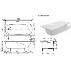 Ванна из литьевого мрамора Эстет Альфа 2-0015, 180*80 см