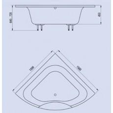 Ванна из литьевого мрамора Astra-Form Виена 150*150 см