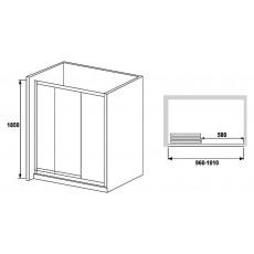 Душевая дверь в нишу RGW Classic CL-11 (960-1010)х1850 стекло чистое