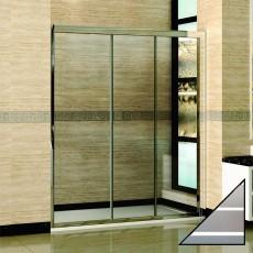 Душевая дверь в нишу RGW Classic CL-11 (1350-1400)х1850 стекло чистое, полоски