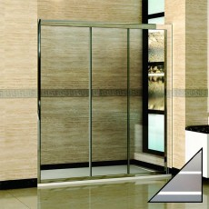 Душевая дверь в нишу RGW Classic CL-11 (1450-1500)х1850 стекло чистое, полоски
