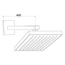 Верхний душ GPD ADS05